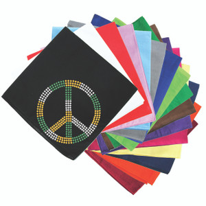 Peace Sign (Green, Gold, & Clear) - Bandanna