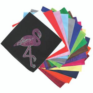 Pink Flamingo (Iridescent AB) - Bandanna