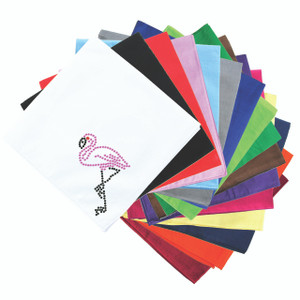 Pink Flamingo with Black Legs - Small - Bandanna