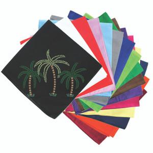Palm Trees (Green Rhinestones) - Bandanna