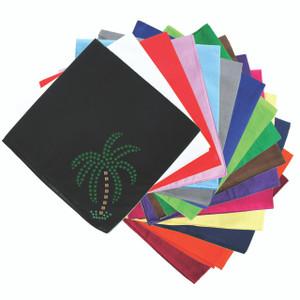Palm Tree (Green Rhinestones - Small) - Bandanna