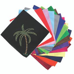 Palm Tree (Green Rhinestones) - Bandanna