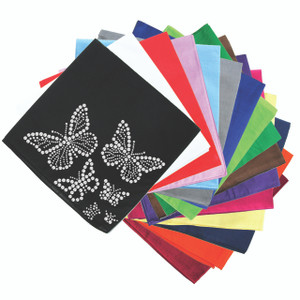 Rhinestone Butterflies - Bandannas