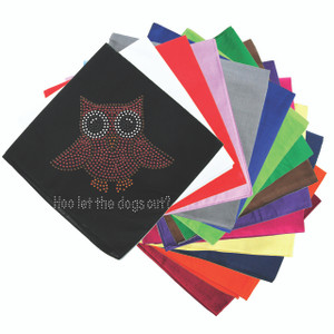 "Pink Owl with ""Hoo Let the Dogs Out?"" - Bandannas"