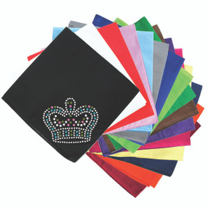 Crown # 4 (Clear, Blue, Lime, & Pink) - Bandanna