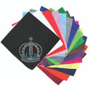 Crown # 7 (Clear, Blue, & Pink) - Bandanna