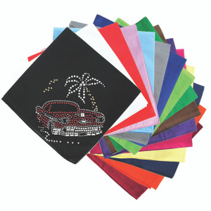 Car with Palm Tree (Red) - Bandannas