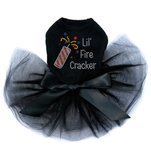 Lil' Firecracker rhinestone dog tutu for large and small dogs.