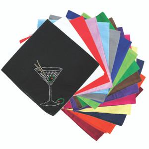 Martini (Silver Rhinestone)  - Bandanna