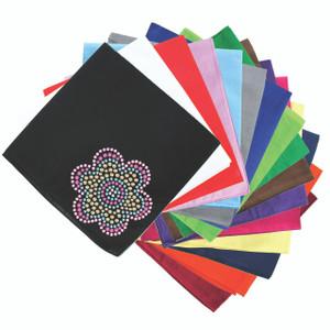 Multicolor Nailhead Flower - Bandanna