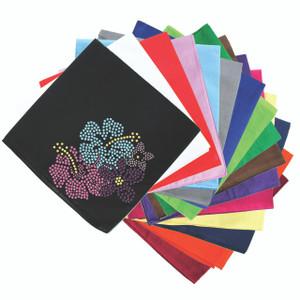 Pink, Blue & Purple Hibiscus - Bandanna