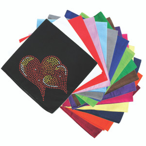 Red, Orange & Yellow Hearts Bandanna