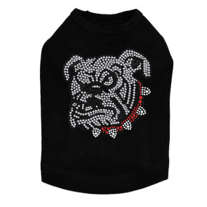 Bulldog Face - White Dog Tank