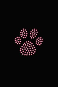 Paw (Pink Rhinestuds) - Women's T-shirt