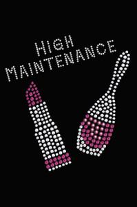 High Maintenance with Swarovski Nail Polish & Lipstick - Women's T-shirt