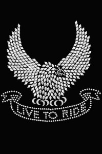 Live to Ride Eagle - Women's T-shirt