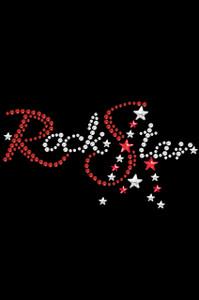 Rock Star (Red Swarovski Rhinestones) - Women's T-shirt