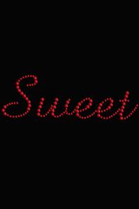 Sweet (Red Rhinestuds) - Women's T-shirt