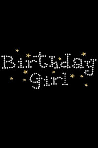 Birthday Girl with Stars - Women's T-shirt