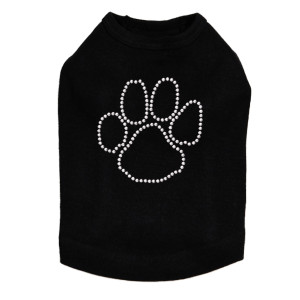 Paw - Silver Nailheads  dog tank for large and small dogs.