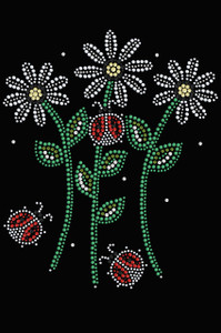 Daisies with Lady Bugs - Women's T-shirt