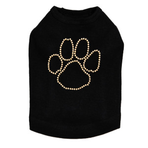 Paw- Gold Nailheads  dog tank for large and small dogs.