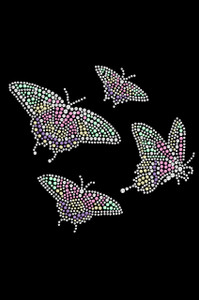 Pastel Butterflies - Women's T-shirt