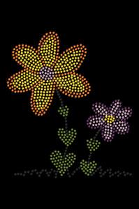 Orange & Purple Flowers - Women's T-shirt
