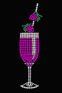 Strawberry Daiquiri - Swarovski Rhinestones - Women's T-shirt