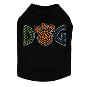 Dog - Rhinestones dog tank for large and small dogs.