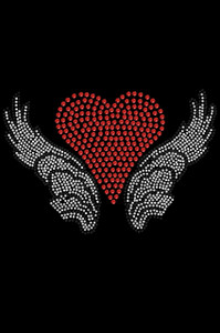 Heart with Wings #2 Adult T-shirt or Tank.