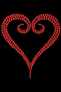 Red Rhinestone Heart Adult T-shirt or Tank.