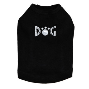 Dog - Silver Nailheads rhinestone dog tank for large and small dogs.