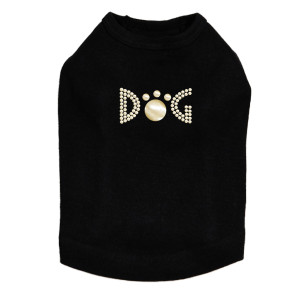 Dog - Gold Nailheads rhinestone dog tank for large and small dogs.