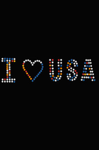 I Love USA (Multicolor Rhinestones) - Women's T-shirt