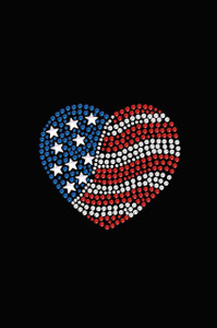 Patriotic Heart # 2 - Women's T-shirt