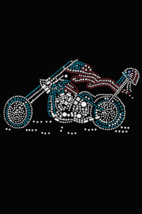 Motorcycle - Red, White, & Turquoise - Women's T-shirt