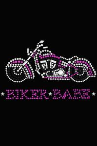Biker Babe - Pink Motorcycle - Women's T-shirt