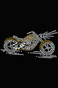 Motorcycle (Small Gold) - Women's T-shirt
