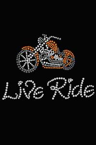 Live - Ride - Orange Motorcycle - Women's T-shirt