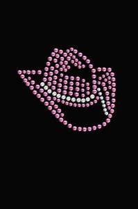 Pink Swarovski Cowgirl Hat - Women's T-shirt