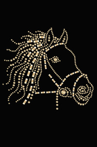 Horse Face (Gold) - Women's T-shirt