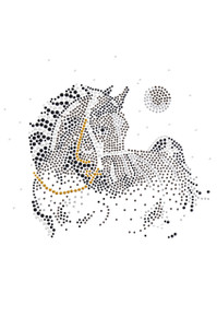 Horse with Stars & Moon - Women's T-shirt