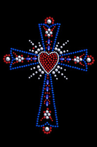 Cross (Red, White & Blue) - Women's T-shirt