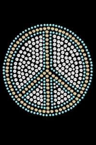 Peace Sign (Blue) - Women's T-shirt