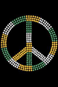 Peace Sign (Green, Gold, & Clear)- Women's T-shirt