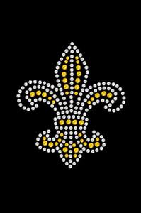 Fleur de Lis (Gold Rhinestones)  - Women's T-shirt
