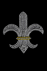 Fleur de Lis (Rhinestones & Nailheads) - Women's T-shirt