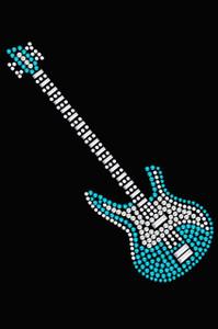 Guitar (Blue Swarovski) - Women's T-shirt