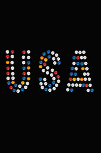 USA (Multicolor Rhinestones)  - Women's T-shirt